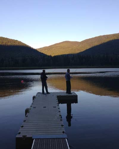 Evening Fishing on the Wharf at Sugar Lake Recreational Properties