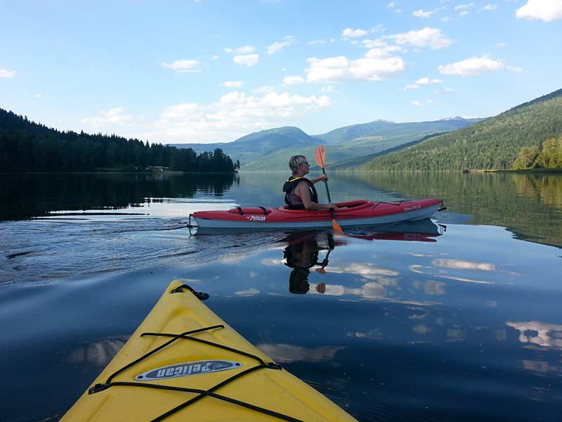 Fun Kayaking Time at Sugar Lake Recreational Properties