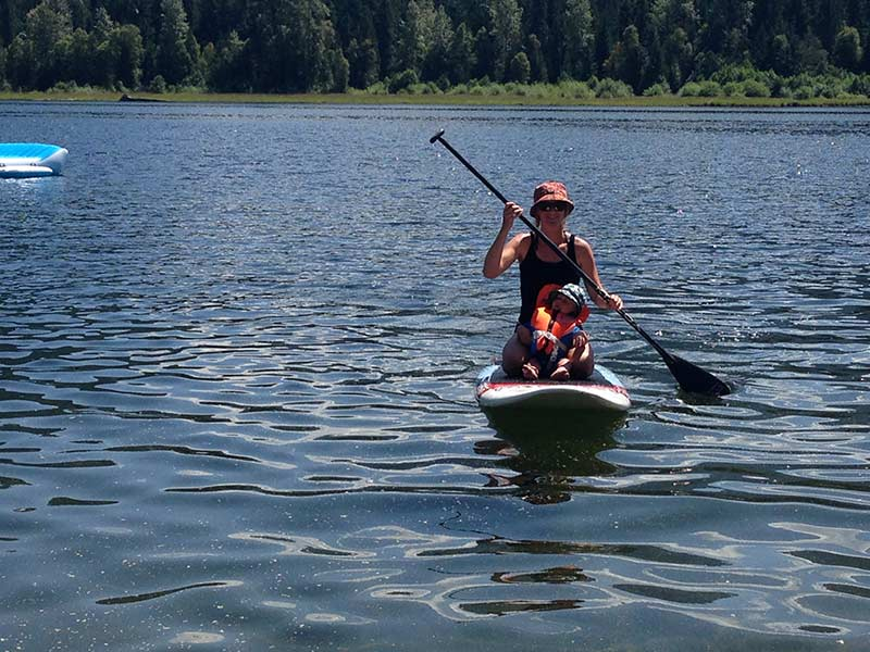 Mother & Child Enjoying Kayaking at Sugar Lake Recreational Properties