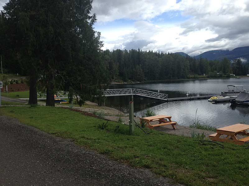 Picnic Area near Boat Slip at Sugar Lake Recreational Properties